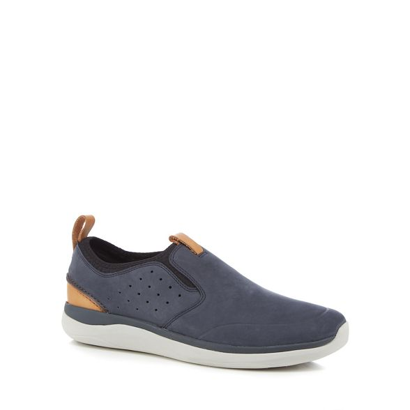 slip trainers Clarks 'Garrett' nubuck on Navy t66Fw0