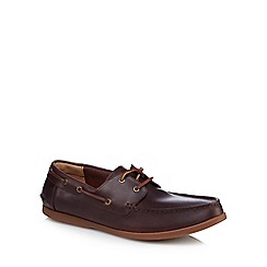 Clarks - Tan leather 'Morven' boat shoes