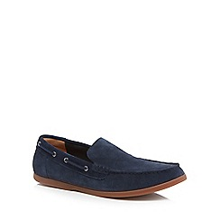 Clarks - Navy suede 'Morven Sun' slip on shoes