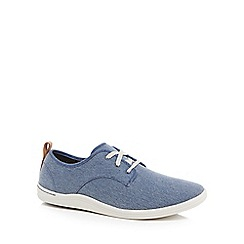 Clarks - Blue 'Mapped' lace up trainers