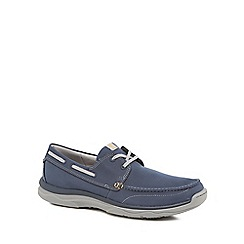 Clarks - Navy 'Marcus' boat shoes