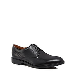 Clarks - Black leather 'Chilver Walk' derby lace up shoes