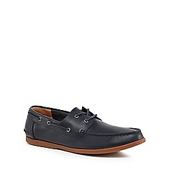Clarks - Navy leather 'Morven Sail' boat shoes