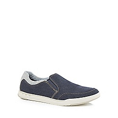 Clarks - Navy canvas 'Step Isle' slip on shoes