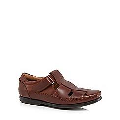 Clarks - Dark Tan 'Un Gala' sandals