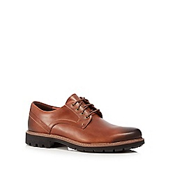 Clarks - Brown leather 'Batcombe Hall' lace up shoes