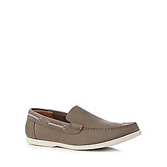 Clarks - Dark grey suede 'Morven Sun' slip on shoes