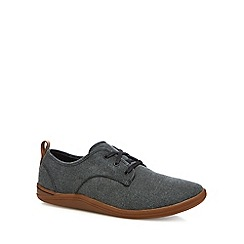 Clarks - Black canvas 'Mapped' trainers