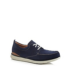 Clarks - Navy suede 'Edgewood Mix' lace up shoes