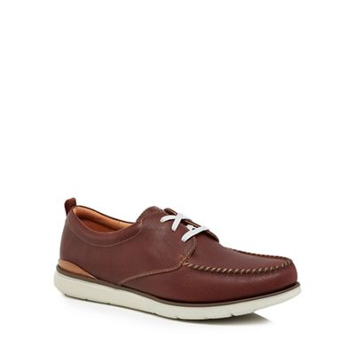 Clarks - Brown leather 'Edgewood Mix' lace up shoes