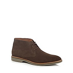 Clarks - Taupe leather 'Atticus' desert boots