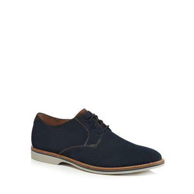 Clarks - Navy suede 'Atticus' Derby shoes