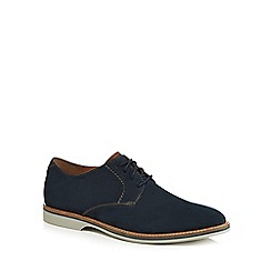 Clarks - Navy suede 'Atticus' Derby shoes