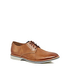 Clarks - Tan leather 'Atticus' derby lace up shoes