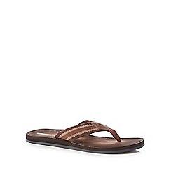 Clarks - Brown 'Lacono' flip flops