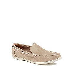 Clarks - Natural suede 'Morven Sun' slip on shoes