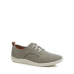 Clarks - Khaki canvas 'Mapped' trainers