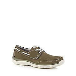 Clarks - Khaki 'Marcus Edge' boat shoes