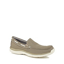Clarks - Natural 'Marus Sail' loafers