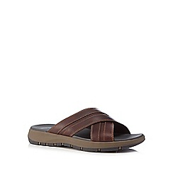 Clarks - Brown leather 'Brixby' sandals