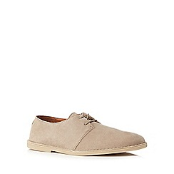 Clarks - Natural suede 'Baltimore' desert shoes