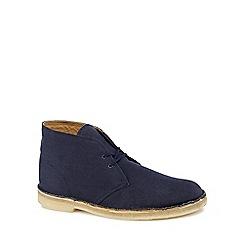 Clarks - Navy canvas desert boots