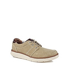 Clarks - Natural canvas 'Un Abode' lace up shoes