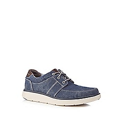 Clarks - Navy canvas 'Un Abode' lace up shoes