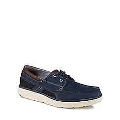 Clarks - Navy 'Un Abode Step' boat shoes