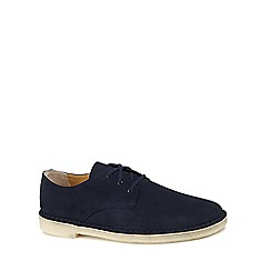 Clarks - Navy suede 'Crosby' desert shoes
