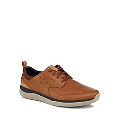 Clarks - Tan leather 'Garratt' trainers