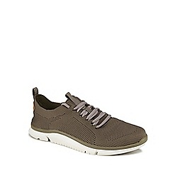 Clarks - Khaki knitted 'Triken Run' trainers