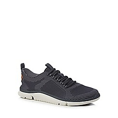 Clarks - Dark blue knitted 'Triken Run' trainers