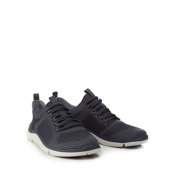 Dark 'Triken knitted Run' Clarks trainers blue dYUnx1AA