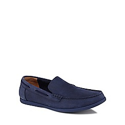 Clarks - Blue suede 'Morven Sun' slip on shoes