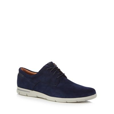 Clarks - Navy suede 'Vennor Walk' lace up shoes