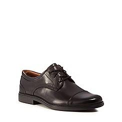 Clarks - Black leather 'Un Aldric' lace up shoes