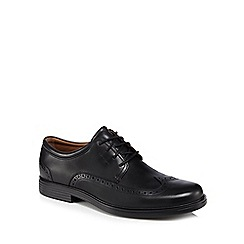Clarks - Black leather 'Un Aldric' lace up shoes