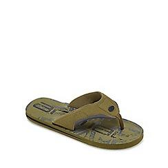 Animal - Khaki 'Jekyll' flip flops