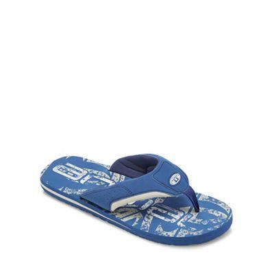 Animal - Blue 'Jekyll' flip flops