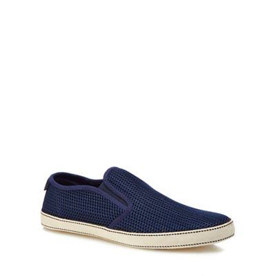 Original Penguin - Navy 'Espy' slip-on trainers