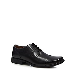 Clarks - Black leather 'Huckley' lace up shoes
