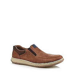 Rieker - Light tan leather slip on trainers