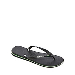 Havaianas - Black 'Brazil' flip flops