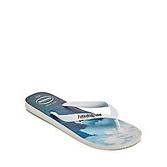 Havaianas - White 'Hype' flip flops