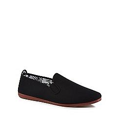 Flossy - Black canvas 'Arnedo' slip-on trainers