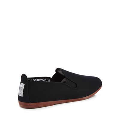 Black canvas 'Arnedo' slip-on trainers clearance sale online M6cOtnwm9Y