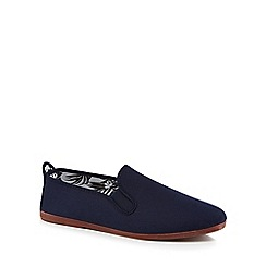 Flossy - Navy canvas 'Arnedo' slip-on trainers