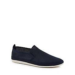 Flossy - Navy suedette 'Vendaval' slip on trainers