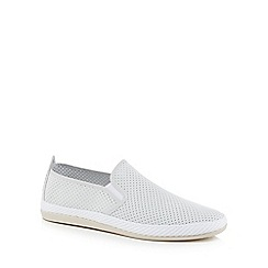Flossy - Grey suedette 'Vendaval' slip on trainers